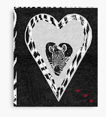 Zebra - Too Cute Canvas Print