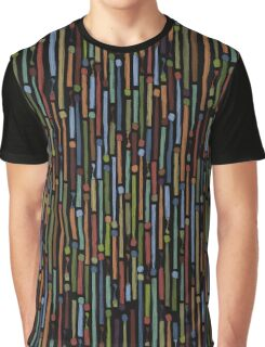 Matchstick Stripe in charcoal Graphic T-Shirt