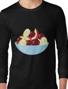Glitch Food fruit salad Long Sleeve T-Shirt