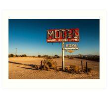 Abandoned Desert Motel Sign Art Print