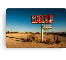 Abandoned Desert Motel Sign Canvas Print