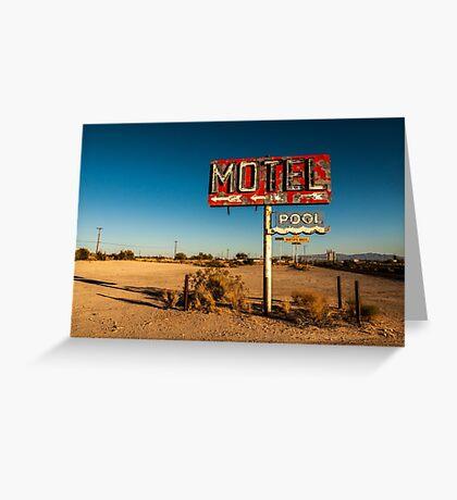 Abandoned Desert Motel Sign Greeting Card