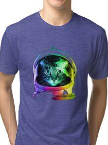 Cat in space Tri-blend T-Shirt