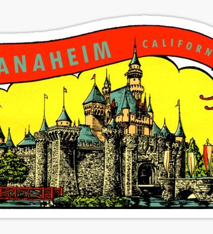 Anaheim California Vintage Travel Decal Sticker