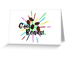 Cool Coffee Beans with Sparkle Greeting Card