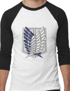 Attack On Titan Logo T shirt Men's Baseball ¾ T-Shirt