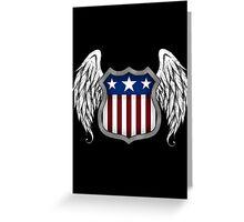 Winged American Shield (Black) Greeting Card