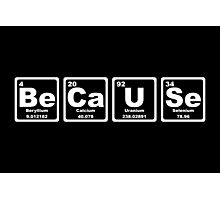 Because - Periodic Table Photographic Print