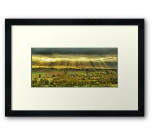 Morning sunrays, Ovens Valley Framed Print