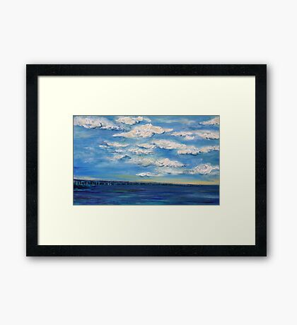 Water with Clouds Framed Print