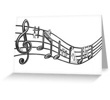 Music Borrowers t-shirt (view large) Greeting Card
