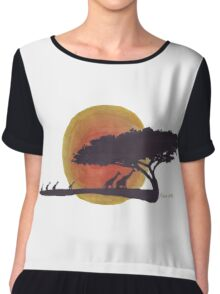 African Sunset silhouettes Chiffon Top