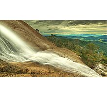 Water over granite, Mount Buffalo Photographic Print