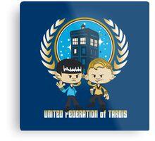 United Federation of Tardis Metal Print