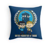 United Federation of Tardis Throw Pillow