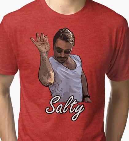 Salt Bae Meme Salty Tri-blend T-Shirt