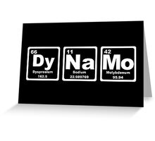 Dynamo - Periodic Table Greeting Card