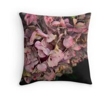Textured fall Hydrangea Throw Pillow