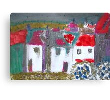 Coastal Cottages Canvas Print