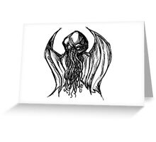 Cthulhu Bust Greeting Card