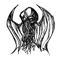 Cthulhu Bust Photographic Print
