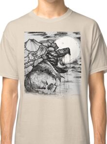 snapping turtle pen and ink Classic T-Shirt