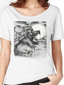 snapping turtle pen and ink Women's Relaxed Fit T-Shirt