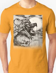 snapping turtle pen and ink T-Shirt