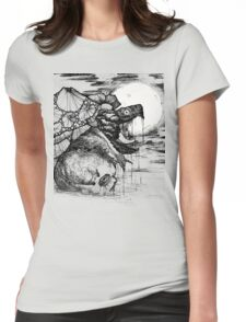 snapping turtle pen and ink Womens Fitted T-Shirt