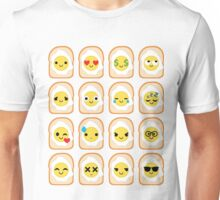 Bread with Egg Emoji Different Facial Expression Unisex T-Shirt