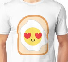 Bread with Egg Emoji Heart and Love Eye Unisex T-Shirt