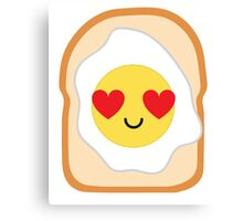 Bread with Egg Emoji Heart and Love Eye Canvas Print