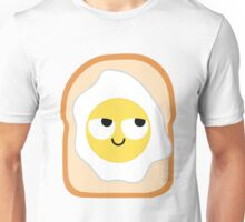 Bread with Egg Emoji Think Hard and Hmm Unisex T-Shirt