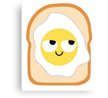 Bread with Egg Emoji Think Hard and Hmm Canvas Print