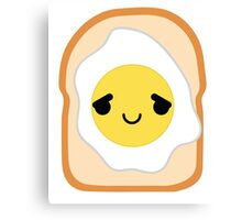 Bread with Egg Emoji Pretty Please Canvas Print