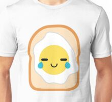 Bread with Egg Emoji Teary Eye of Joy Unisex T-Shirt