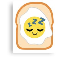 Bread with Egg Emoji Sleep and Dream Canvas Print