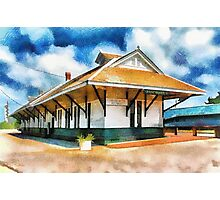 Pascagoula Train Depot Photographic Print