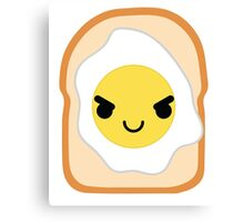 Bread with Egg Emoji Naughty and Cheeky Canvas Print