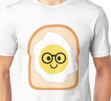 Bread with Egg Emoji Nerd Noob Glasses Unisex T-Shirt