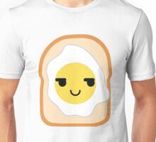 Bread with Egg Emoji Cheeky and Up to Something Unisex T-Shirt