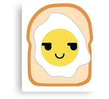 Bread with Egg Emoji Cheeky and Up to Something Canvas Print
