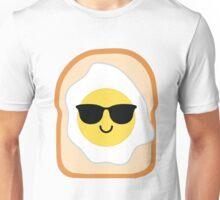 Bread with Egg Emoji Cool Sunglasses Unisex T-Shirt