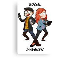 SOCIAL MAVENS Canvas Print