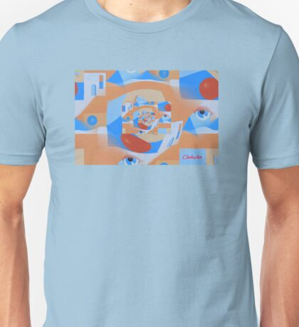 TAOS PERSPECTIVE IN BLUE Unisex T-Shirt