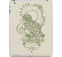 wisdom owl tattoo shirt iPad Case/Skin