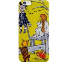 """Dorothy gazed thoughtfully at the Scarecrow."" iPhone Case/Skin"