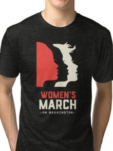 Women's March on Washington 2017 Official Tri-blend T-Shirt