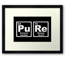 Pure - Periodic Table Framed Print