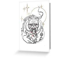 twice cursed werewolf line art Greeting Card